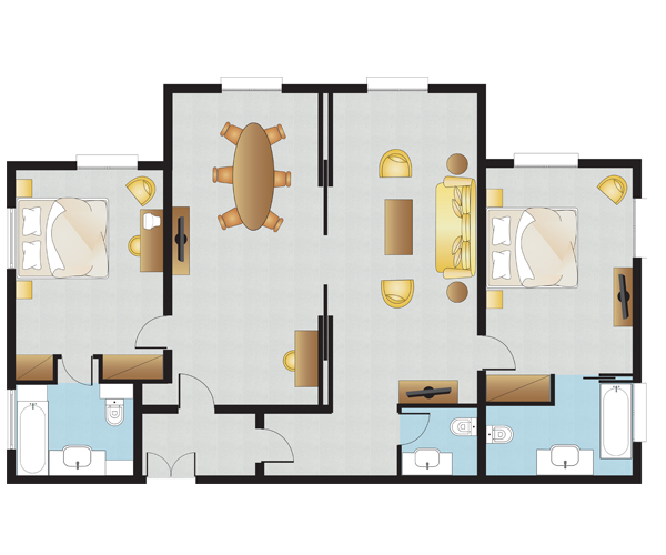 Presidential Suite Floorplan